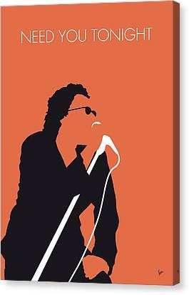 No033 My Inxs Minimal Music Poster Canvas Print by Chungkong Art