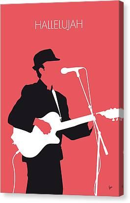 No042 My Leonard Cohen Minimal Music Canvas Print by Chungkong Art