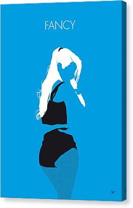 No049 My Iggy Azalea Minimal Music Poster Canvas Print by Chungkong Art
