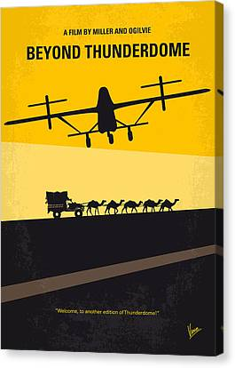 No051 My Mad Max 3 Beyond Thunderdome Minimal Movie Poster Canvas Print by Chungkong Art
