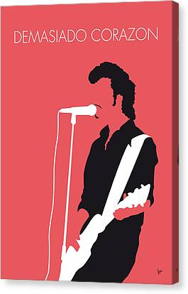 No052 My Mink De Ville Minimal Music Poster Canvas Print by Chungkong Art