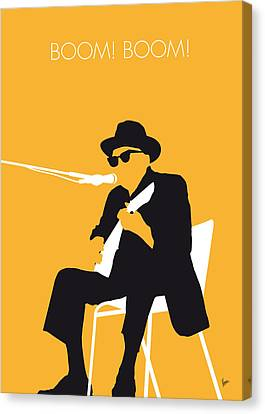 No054 My Johnny Lee Hooker Minimal Music Poster Canvas Print by Chungkong Art