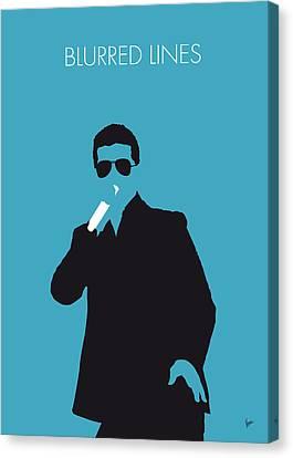 No055 My Robin Thicke Minimal Music Poster Canvas Print by Chungkong Art