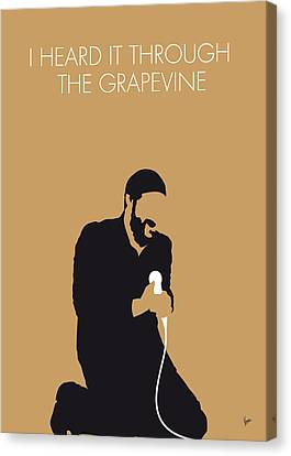 No060 My Marvin Gaye Minimal Music Poster Canvas Print by Chungkong Art