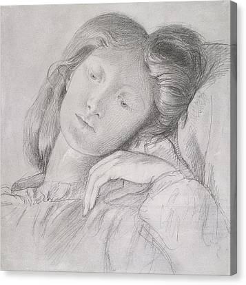 Elizabeth Siddal, Circa 1860 Canvas Print by Dante Gabriel Charles Rossetti