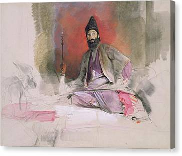 No.0738 Study Of A Turkish Magnate Canvas Print by John Frederick Lewis