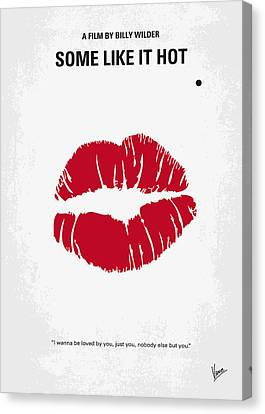 No116 My Some Like It Hot Minimal Movie Poster Canvas Print by Chungkong Art