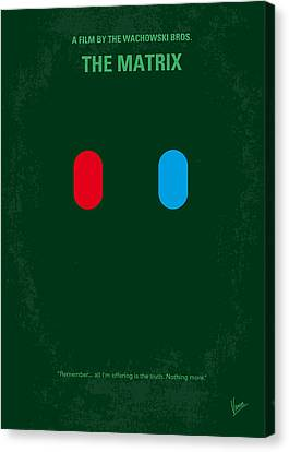 No117 My Matrix Minimal Movie Poster Canvas Print by Chungkong Art