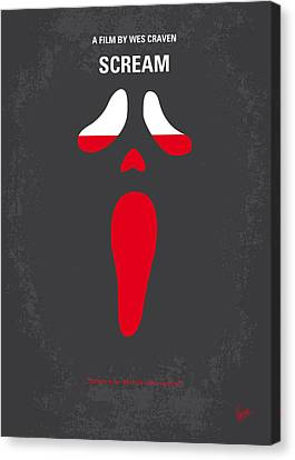 No121 My Scream Minimal Movie Poster Canvas Print by Chungkong Art