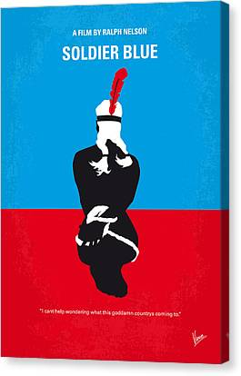 No136 My Soldier Blue Minimal Movie Poster Canvas Print by Chungkong Art