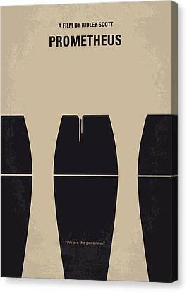 No157 My Prometheus Minimal Movie Poster Canvas Print by Chungkong Art