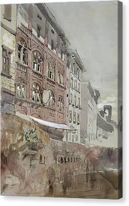 No.1590 Palazzo Agostini, Pisa, 1845 Canvas Print by John Ruskin