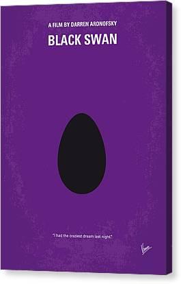 No162 My Black Swan Minimal Movie Poster Canvas Print by Chungkong Art