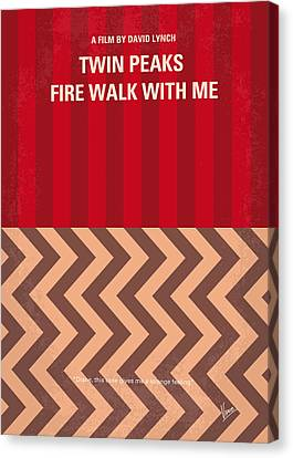 No169 My Fire Walk With Me Minimal Movie Poster Canvas Print by Chungkong Art