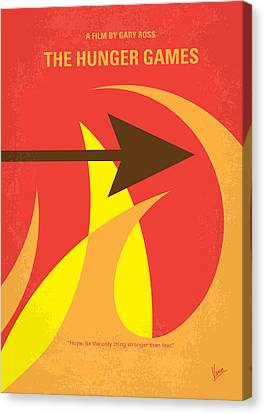No175 My Hunger Games Minimal Movie Poster Canvas Print by Chungkong Art