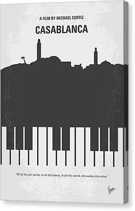 No192 My Casablanca Minimal Movie Poster Canvas Print by Chungkong Art