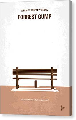 No193 My Forrest Gump Minimal Movie Poster Canvas Print by Chungkong Art