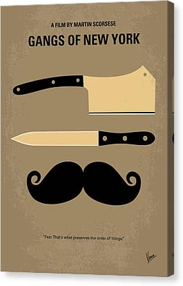 No195 My Gangs Of New York Minimal Movie Poster Canvas Print by Chungkong Art