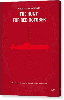 No198 My The Hunt For Red October Minimal Movie Poster Canvas Print by Chungkong Art