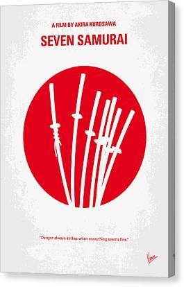 No200 My The Seven Samurai Minimal Movie Poster Canvas Print by Chungkong Art