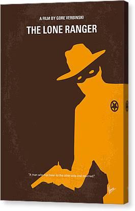 No202 My The Lone Ranger Minimal Movie Poster Canvas Print by Chungkong Art