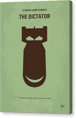 No212 My The Dictator Minimal Movie Poster Canvas Print by Chungkong Art
