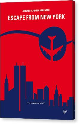 No219 My Escape From New York Minimal Movie Poster Canvas Print by Chungkong Art