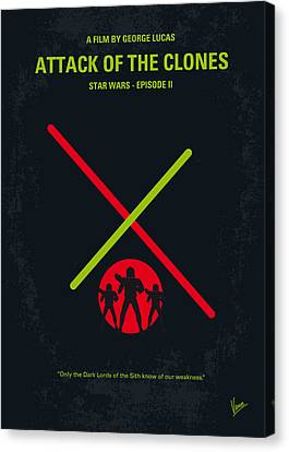 No224 My Star Wars Episode II Attack Of The Clones Minimal Movie Poster Canvas Print by Chungkong Art