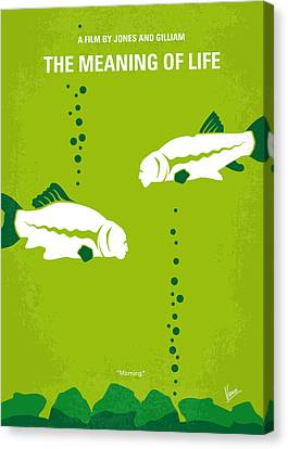 No226 My The Meaning Of Life Minimal Movie Poster Canvas Print by Chungkong Art