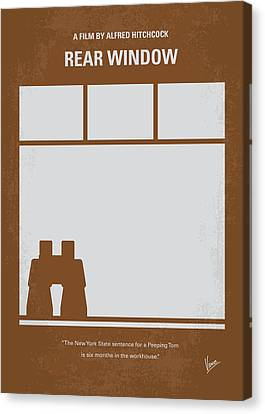 No238 My Rear Window Minimal Movie Poster Canvas Print by Chungkong Art