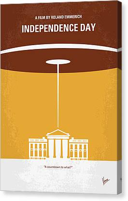 No249 My Independence Day Minimal Movie Poster Canvas Print by Chungkong Art