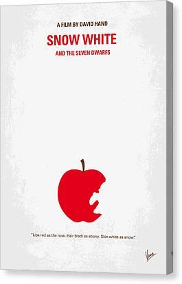 No252 My Snow White Minimal Movie Poster Canvas Print by Chungkong Art