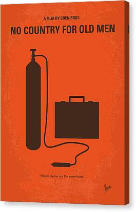 No253 My No Country For Old Men Minimal Movie Poster Canvas Print by Chungkong Art