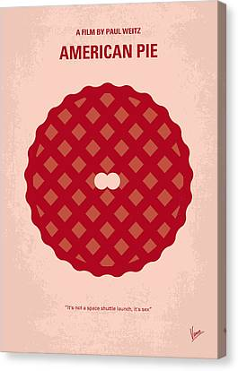 No262 My American Pie Minimal Movie Poster Canvas Print by Chungkong Art