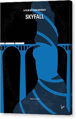 No277-007-2 My Skyfall Minimal Movie Poster Canvas Print by Chungkong Art