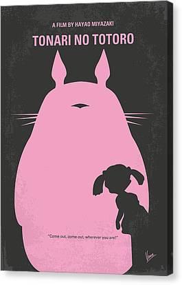 No290 My My Neighbor Totoro Minimal Movie Poster Canvas Print by Chungkong Art