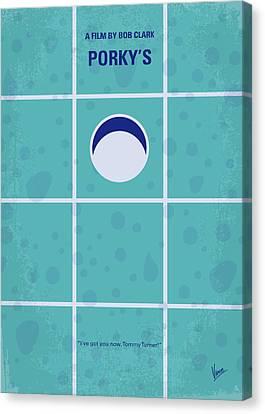 No310 My Porkys Minimal Movie Poster Canvas Print by Chungkong Art