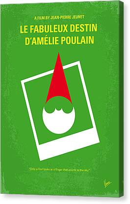No311 My Amelie Minimal Movie Poster Canvas Print by Chungkong Art