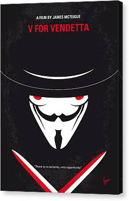 No319 My V For Vendetta Minimal Movie Poster Canvas Print by Chungkong Art