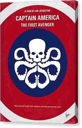 No329 My Captain America - 1 Minimal Movie Poster Canvas Print by Chungkong Art