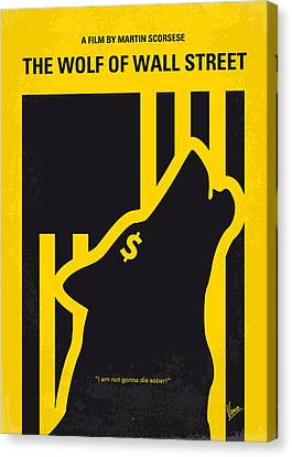 No338 My Wolf Of Wallstreet Minimal Movie Poster Canvas Print by Chungkong Art