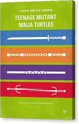 No346 My Teenage Mutant Ninja Turtles Minimal Movie Poster Canvas Print by Chungkong Art