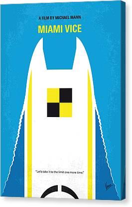 No351 My Miami Vice Minimal Movie Poster Canvas Print by Chungkong Art