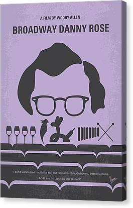 No363 My Broadway Danny Rose Minimal Movie Poster Canvas Print by Chungkong Art