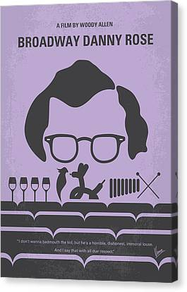 No363 My Broadway Danny Rose Minimal Movie Poster Canvas Print by Chungkong Art