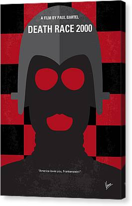 No367 My Death Race 2000 Minimal Movie Poster Canvas Print by Chungkong Art