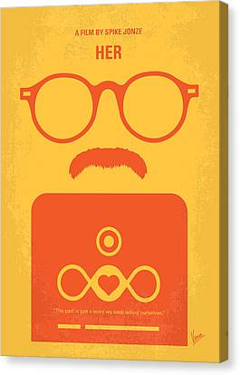 No372 My Her Minimal Movie Poster Canvas Print by Chungkong Art