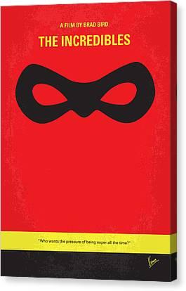 No368 My Incredibles Minimal Movie Poster Canvas Print by Chungkong Art
