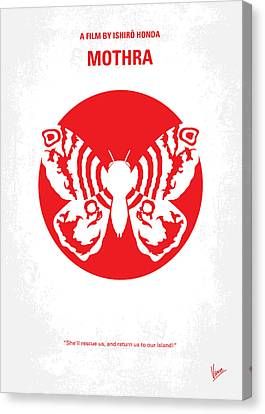 No391 My Mothra Minimal Movie Poster Canvas Print by Chungkong Art