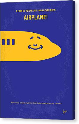 No392 My Airplane Minimal Movie Poster Canvas Print by Chungkong Art